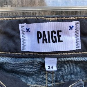 PAIGE Jeans - PAIGE embellished low rise mid wash skinny jeans